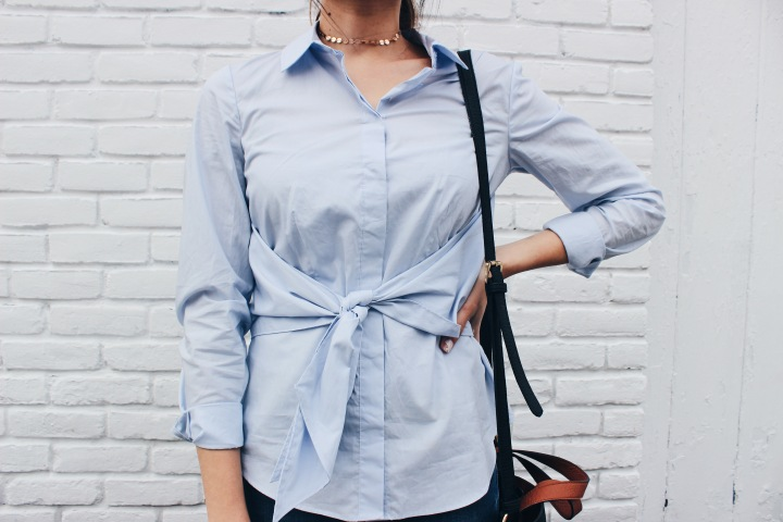 Look of the Day: Tied Button Down