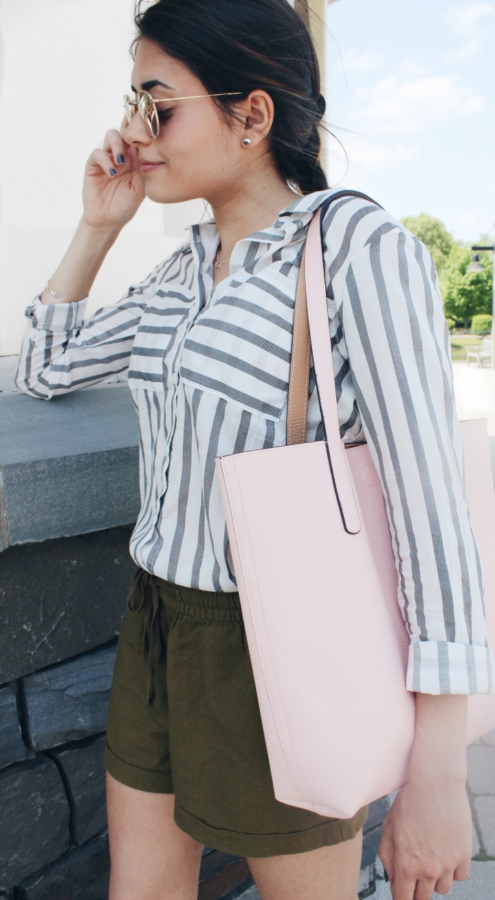 Look of the Day: Striped Button Down