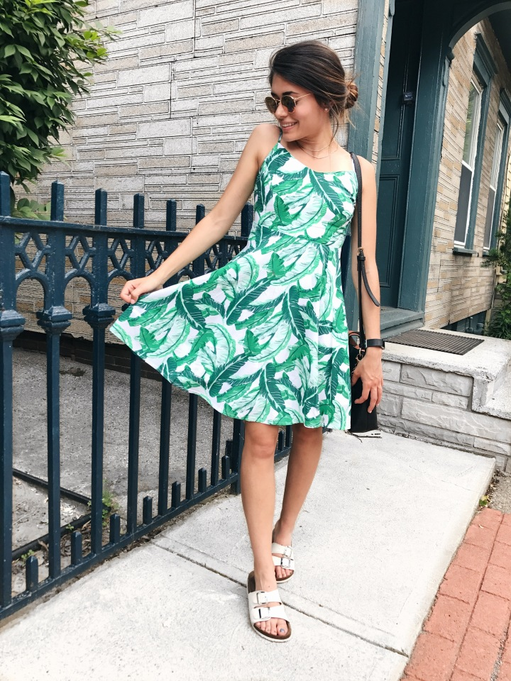 Palm Leaf Dress!